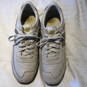 New Balance for Jcrew Gold and White Sneakers 7.5